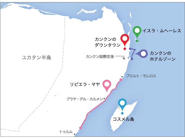 カンクンの地図